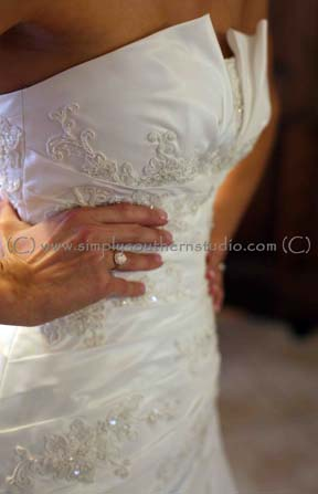 Strapless Wedding Dress Woodmill Winery Fall Wedding NC