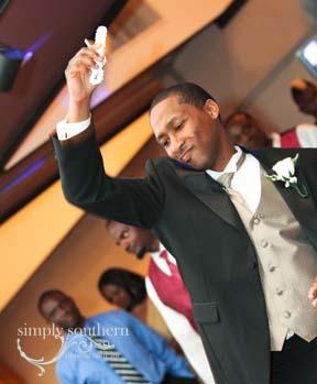 wedding reception garter toss wedding photographer