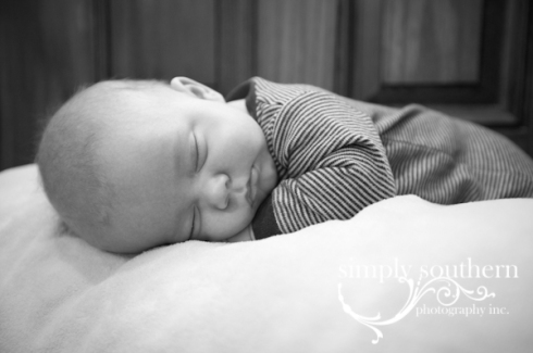sleeping 3 month baby portrait